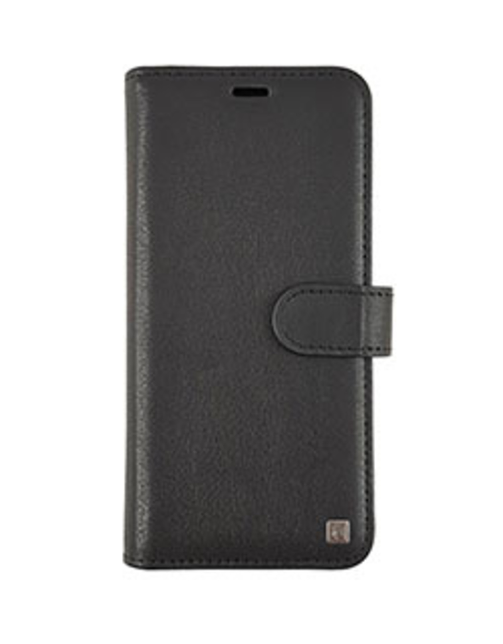 Samsung Galaxy S9 Uunique Black Genuine Leather 2-in-1 Detachable Folio Case 15-04355