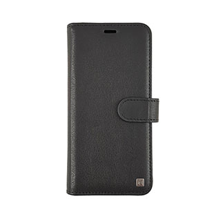 Uunique London Samsung Galaxy S9 Uunique Black Genuine Leather 2-in-1 Detachable Folio Case 15-04355