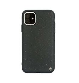 Uunique London | iPhone 11  Black (Black Olive) Nutrisiti Eco Back Case 15-05025