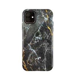 Uunique London | iPhone 11  Black/Gold (Dark Star Marble) Nutrisiti Eco Printed Marble Back Case 15-05038