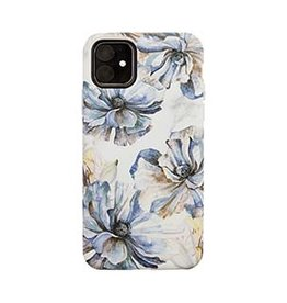 Uunique London | iPhone 11  Blue/Gold (Bold Blossom) Nutrisiti Eco Printed Marble Case 15-05037