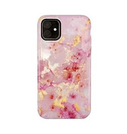 Uunique London | iPhone 11  Pink (Candy Crush) Nutrisiti Eco Printed Marble Back Case 15-05116