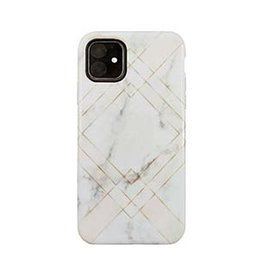 Uunique London | iPhone 11  Pink (Geometric Marble) Nutrisiti Eco Printed Back Case 15-05040