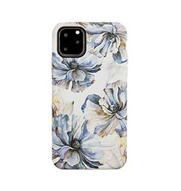 Uunique London | iPhone 11 Pro  Blue/Gold (Bold Blossom) Nutrisiti Eco Printed Marble Back Case 15-05031
