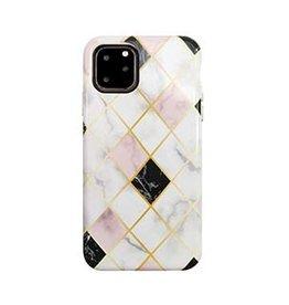 Uunique London | iPhone 11 Pro  White/Rose Gold (Diamond Marble) Nutrisiti Eco Printed Marble Back Case 15-05033