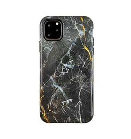 Uunique London | iPhone 11 Pro Max  Black/Gold (Dark Star Marble) Nutrisiti Eco Printed Marble Back Case 15-05044