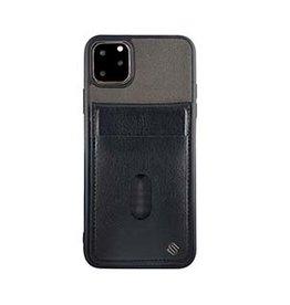 Uunique London | iPhone 11 Pro Max  Grey/Black Westminster Flip Pocket Case 15-05061