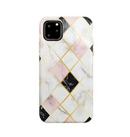 Uunique London Uunique London | iPhone 11 Pro Max  White/Rose Gold (Diamond Marble) Nutrisiti Eco Printed Marble Back 15-05045