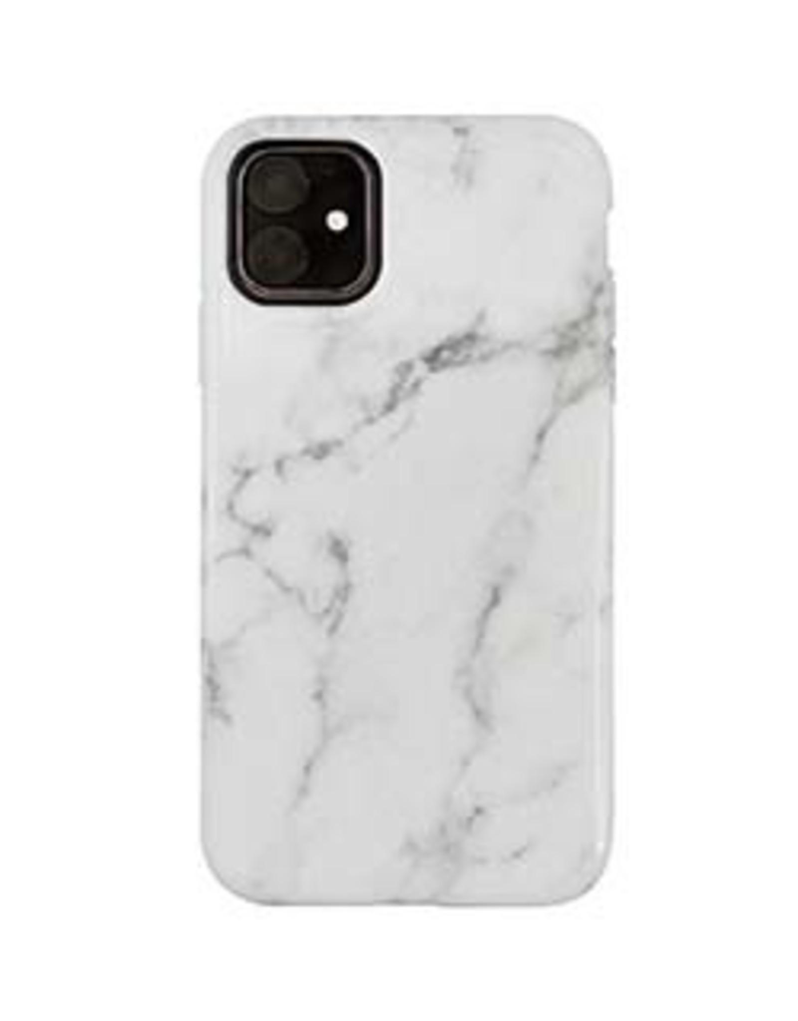 Uunique London   Uunique London   White/Gold (White Marble) Nutrisiti Eco Printed Marble Back Case 15-05042