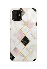 Uunique London | White/Rose Gold (Diamond Marble) Nutrisiti Eco Printed Marble Back Case 15-05039