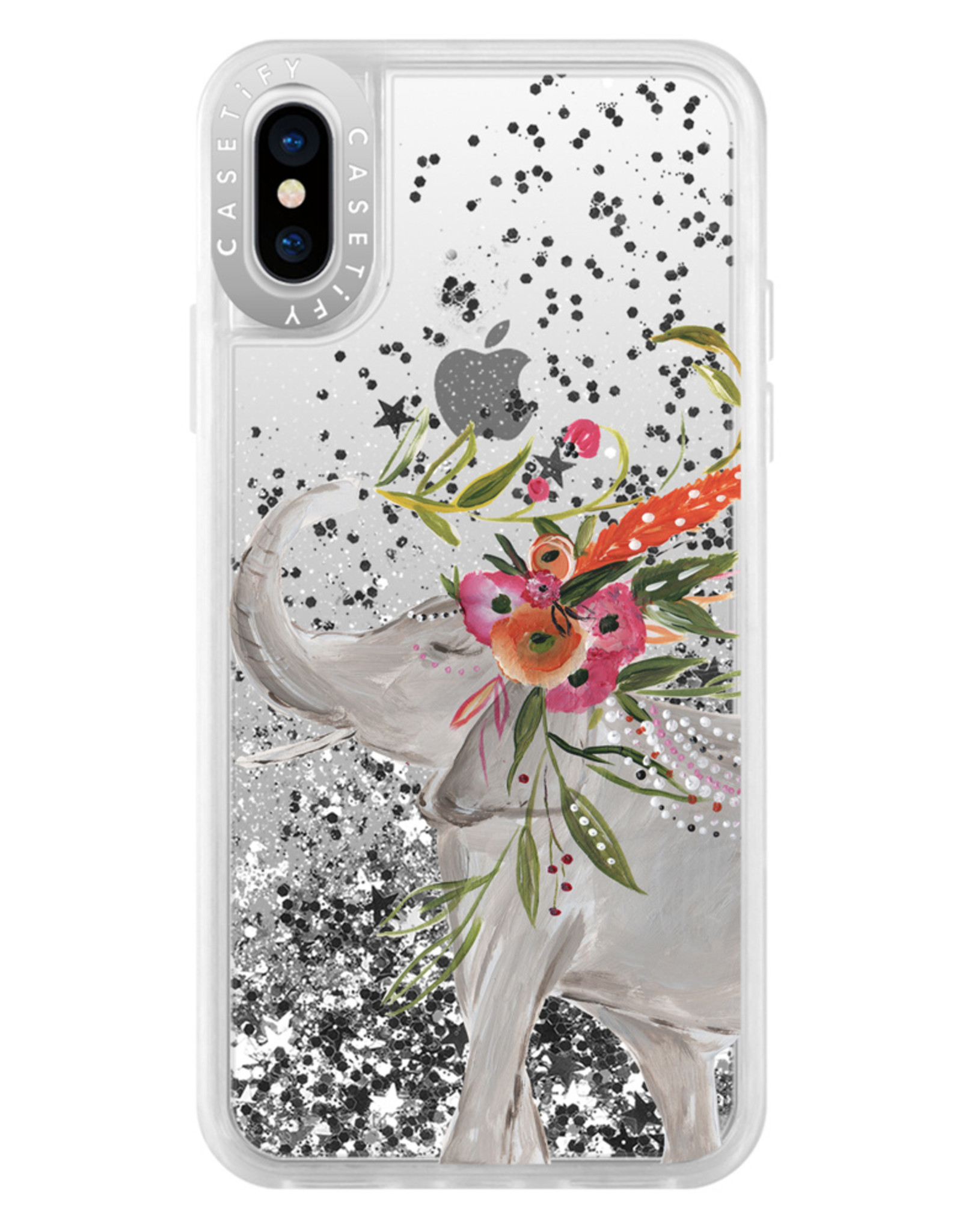 Casetify /// Casetify - Gliter Case Boho Elephant for iPhone XS/X 120-1196
