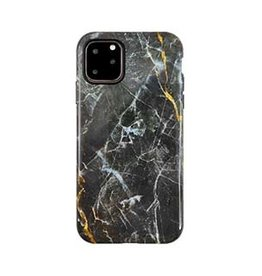 Uunique London | iPhone 11 Pro  Black/Gold (Dark Star Marble) Nutrisiti Eco Printed Marble Back Case 15-05032
