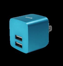 Logiix Logiix | USB Power Cube Rapide 2.4A / 12 Watt AC Charger - Turquoise LGX-11748