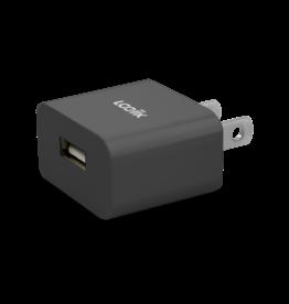 Logiix LOGiiX USB Power Cube Classic Single Wall Charger 2.1A - Black LGX-12837