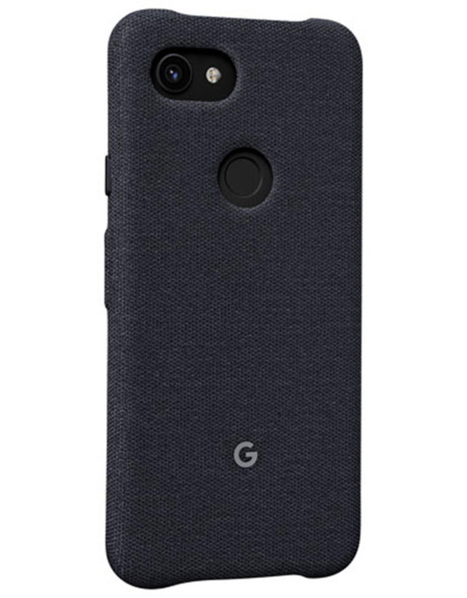 Google SO Google - Fabric Case Carbon (Black) for Google Pixel 3a 120-2453
