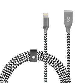 Logiix LOGiiX | Piston Connect Braid + 1.2M USB-C to Lightning Black/ White LGX-12865
