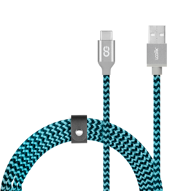 Logiix LOGiiX | Piston Connect Braid 1.5M USB-A to USB-C - Blue/Black LGX-12656