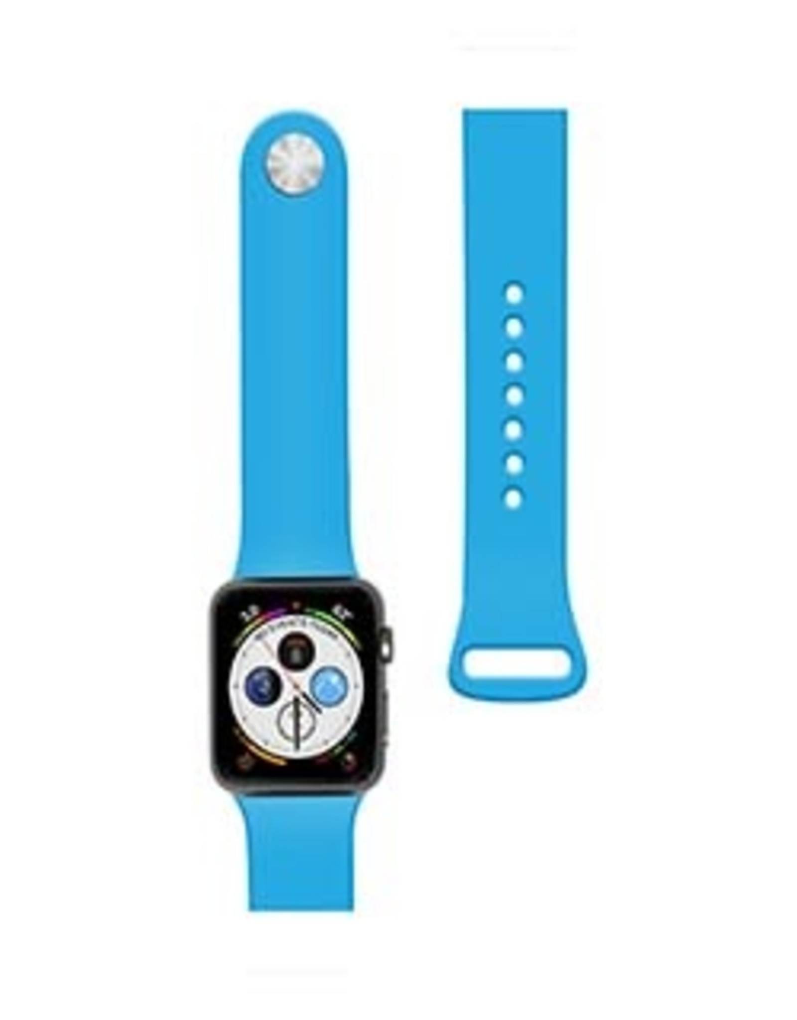 //// Naztech Apple Watch 44/42mm Blue Silicone Watch Band 15-04685