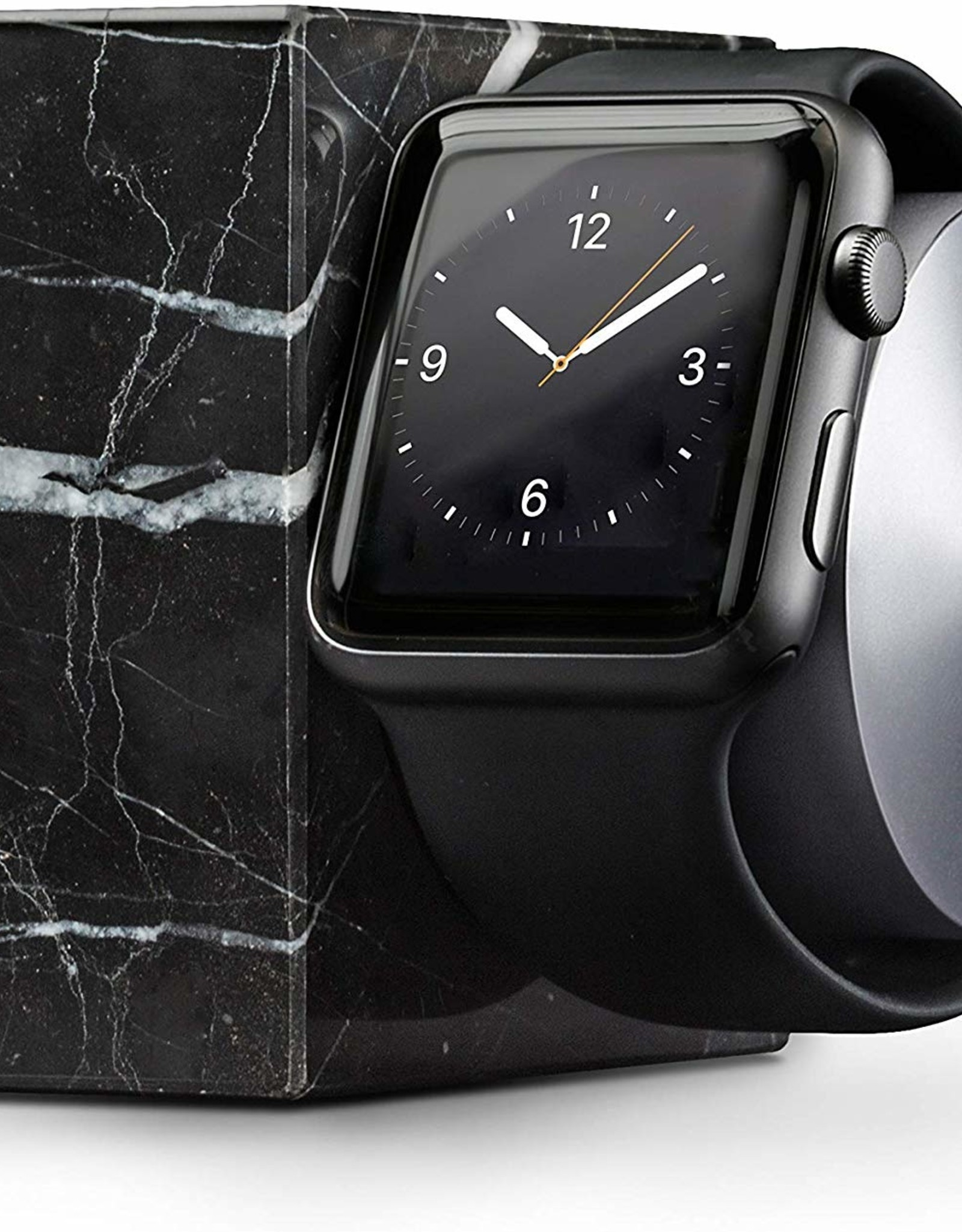 Native Union Native Union | Marble Apple Watch Dock Black | DOCK-AW-MB-BLK