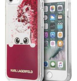 /// Karl Lagerfeld   iPhone 8/7/6/6s Transparent TPU Case - Peek A Boo - Liquid Glitter Fushia   KLHCP7PABGFU