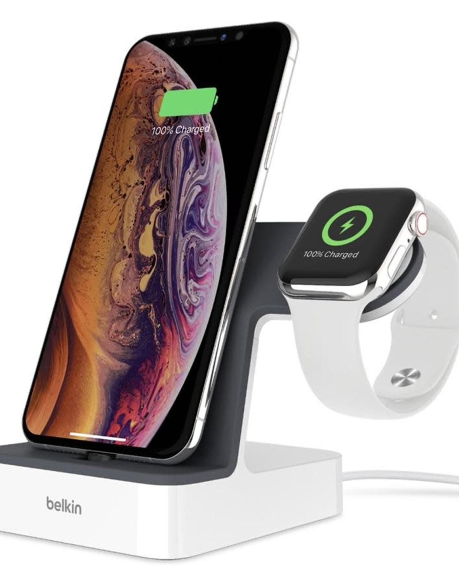 Belkin Belkin Powerhouse Charge Dock Apple Watch iPhone White  F8J237TTWHT