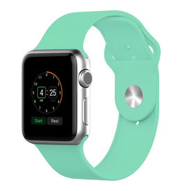 StrapsCo | Apple Watch Mint/Green Rubber Strap 38mm Small a.r1.11a.38s
