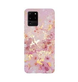 Samsung | Galaxy S20+ Uunique Pink (Pink Candy Marble) Nutrisiti Eco Printed Marble Back Case 15-06647