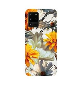 Samsung | Galaxy S20+ Uunique Pink/Yellow (Sunset Flower) Nutrisiti Eco Printed Marble Case 15-06648