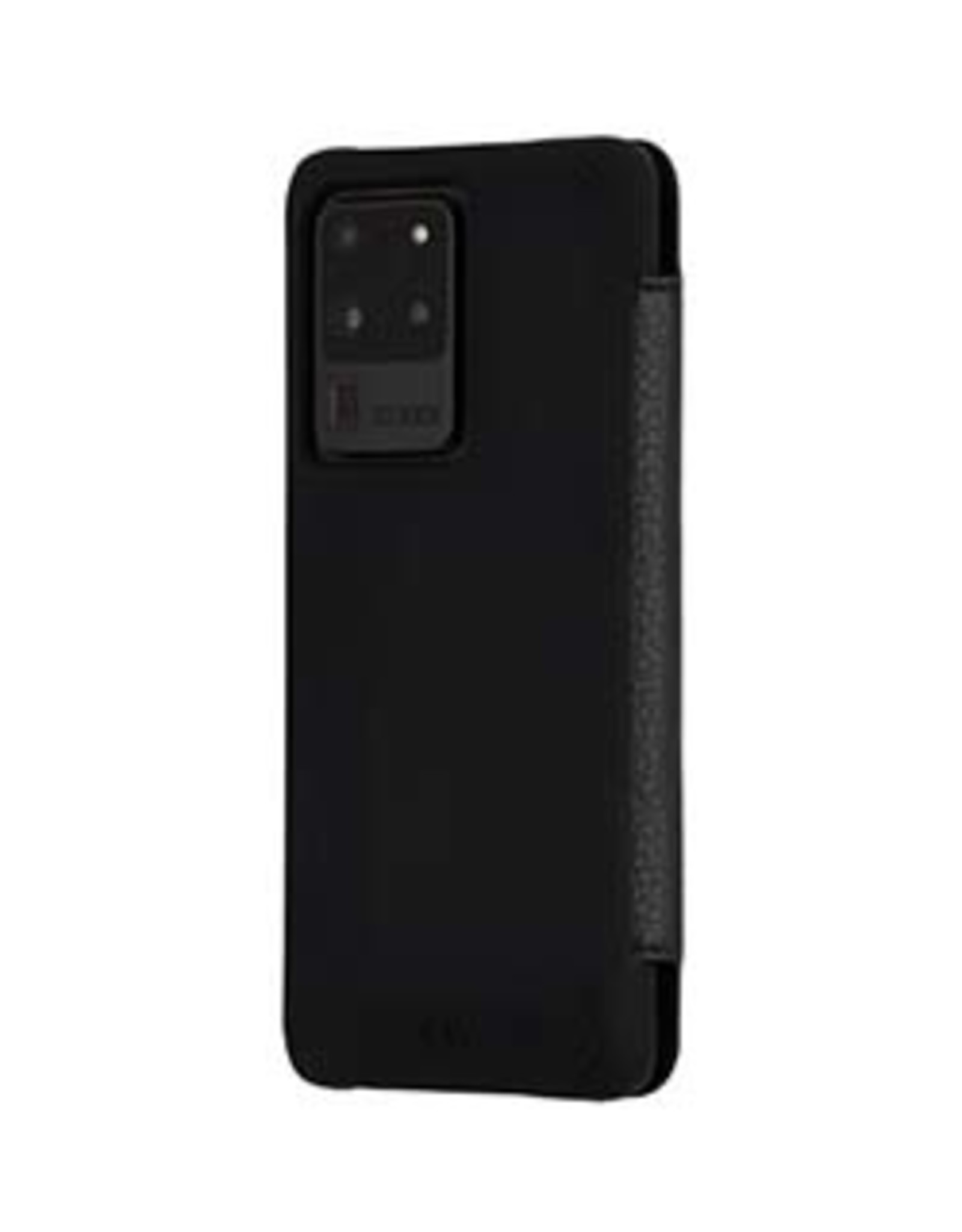 Case-Mate Case-Mate | Samsung Galaxy S20 Ultra  Black Pebbled Leather Wallet Folio Case15-06677