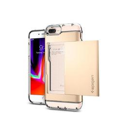 Spigen Spigen Crystal Wallet for iPhone 8/7 Plus Champagne Gold SGP043CS20988