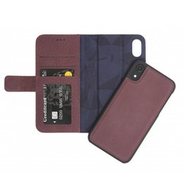 Decoded Leather Case Detachable Wallet for iPXR Purple DC-D8IPO61DW1BY