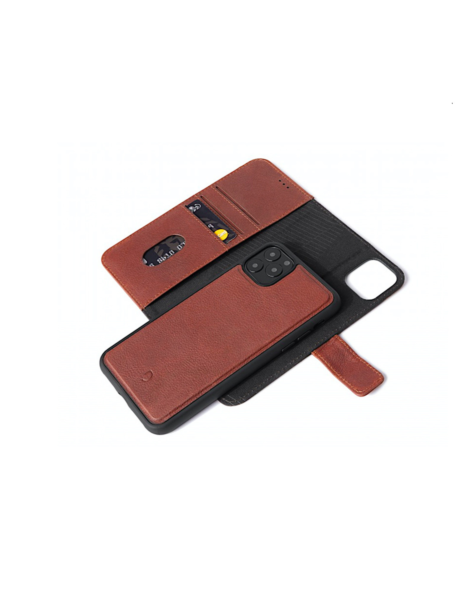 SO Decoded Leather Detachable Wallet for iPhone 11 Pro Max Full Grain Leather - Brown DC-D9IPOXIMDW2CBN