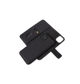 Decoded Leather Detachable Wallet for iPhone 11 Full Grain Leather - Black DC-D9IPOXIRDW2BK