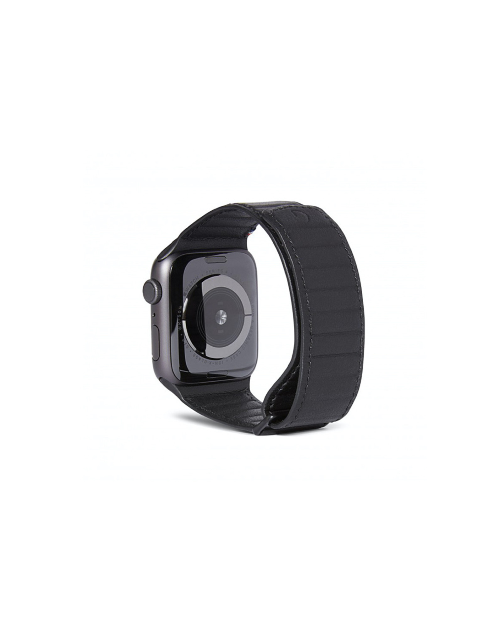 Decoded Leather Magnetic Traction Strap Series 5 / 4 (44mm) / 3 / 2 / 1 (42mm) Black | DC-D9AWS44TS1BK