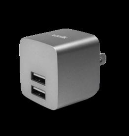 Logiix SO Logiix | USB Power Cube Rapide 2.4A / 12 Watt AC Charger - Graphite Grey LGX-12035
