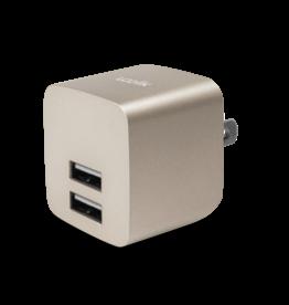 Logiix Logiix | USB Power Cube Rapide 2.4A / 12 Watt AC Charger - Gold LGX-12036