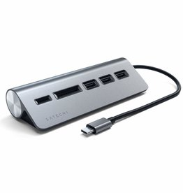 Satechi Satechi | Aluminum USB-C Hub with Card Reader Space Gray | ST-TCHCRM