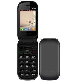 MaxWest Maxwest Uno 3G Flip Phone Black MWUNO3GFLIPBK
