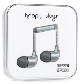 Happy Plugs Happy Plugs In-Ear Earbuds with Mic - Space Gray BP 7834