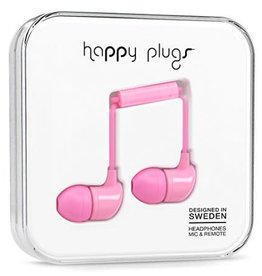 Happy Plugs Happy Plugs In-Ear Earbuds with Mic - Pink BP 7717
