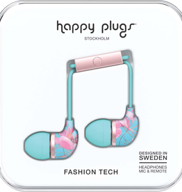Happy Plugs Happy Plugs In-Ear Earbuds with Mic - Pattern BP Botanica Exotica 7893