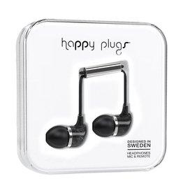 Happy Plugs Happy Plugs In-Ear Earbuds with Mic - Pattern BP Black Marble 7784