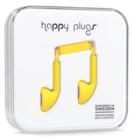 Happy Plugs Happy Plugs Earbuds with Mic - Yellow BP 7706