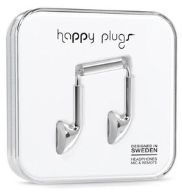 Happy Plugs Happy Plugs Earbuds with Mic - Silver BP 7735