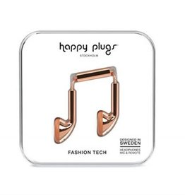 Happy Plugs Happy Plugs Earbuds with Mic - Rose Gold BP 7737
