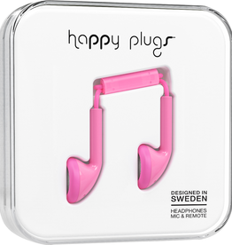 Happy Plugs Happy Plugs Earbuds with Mic - Pink BP 7702