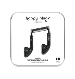 Happy Plugs Happy Plugs Earbuds with Mic - Pattern BP Black Marble 7783
