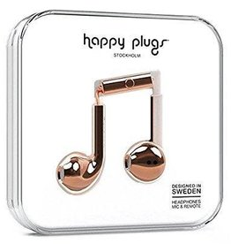 Happy Plugs Happy Plugs Earbuds Plus with Mic - Rose Gold BP 7823