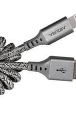 Ventev - Helix Lightning Cable 14 inch Grey 107-1481