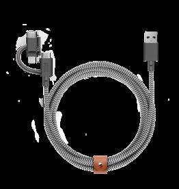 Native Union /// Native Union   Belt Universal Cable V2 BELT-KV-ULC-ZEB-V2